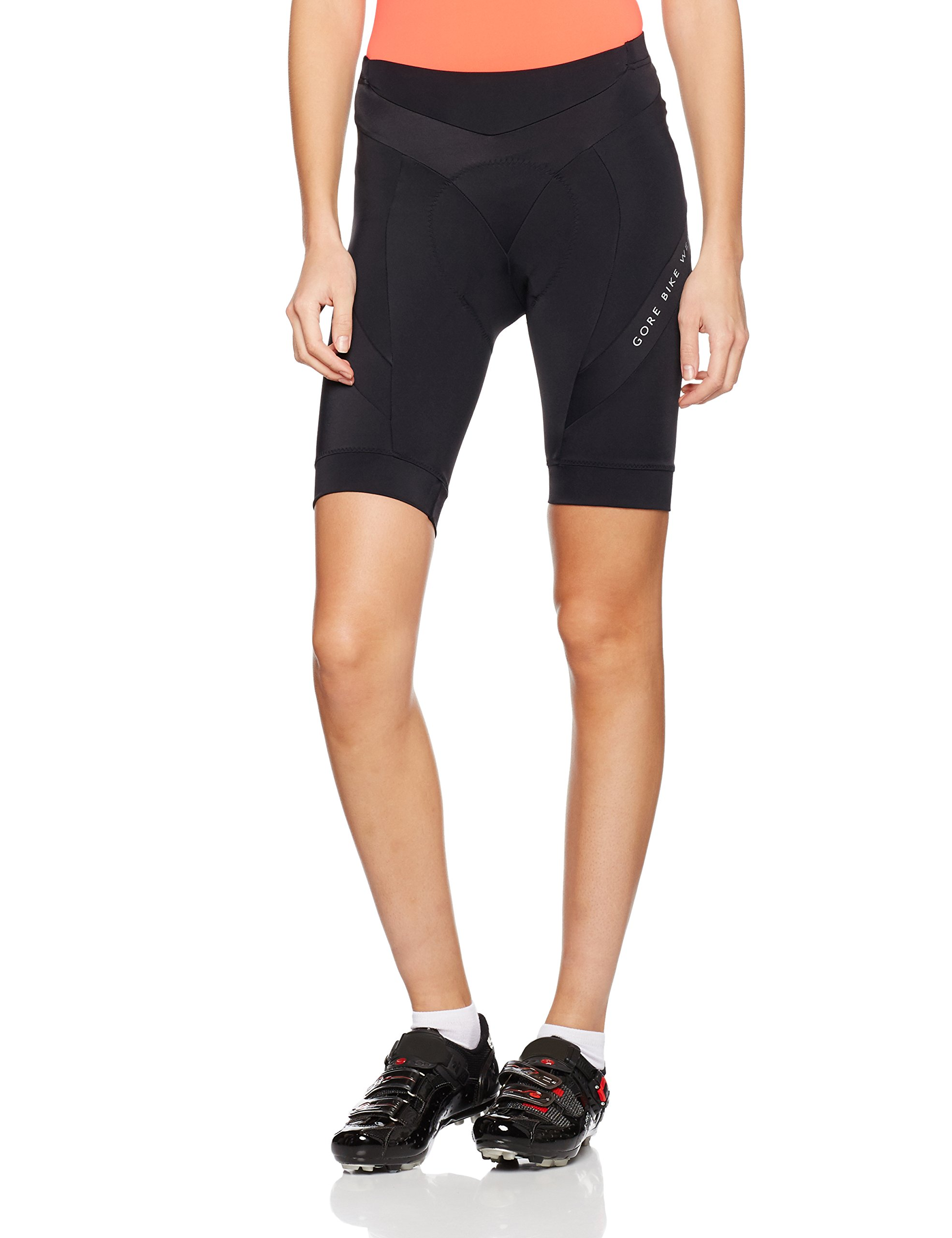 Gore Bike WEAR Women's Bike Shorts, Seat Padding, Breathable, Gore Selected Fabrics, Power Lady Tights Short+, Size: M, Black, TPOWRL