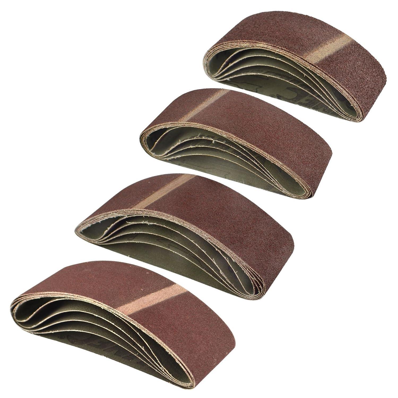 Fichier d'alimentation Ponceuse Bandes abrasives 400mm x 60mm (lot 20 Grain AB Tools