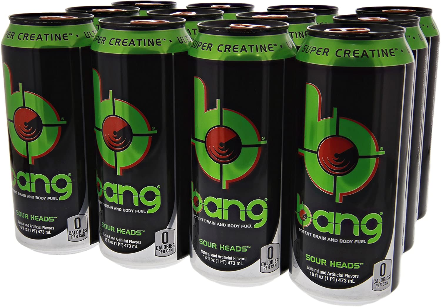 VPX Bang - Sour Heads - 12 per Case - 16 fl oz (1 PT) 473 ml