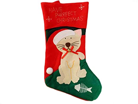 Cat Christmas Stockings.Cat Christmas Stocking