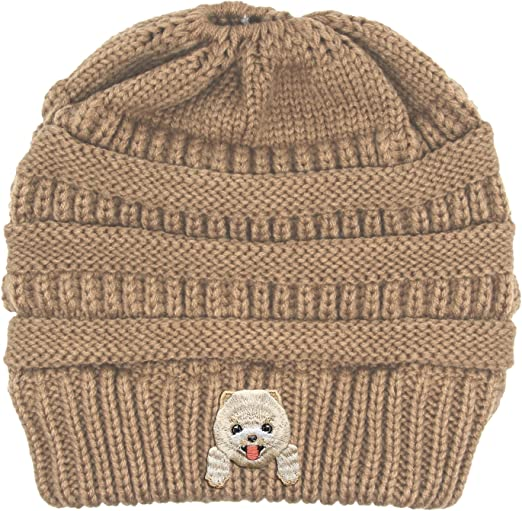 BULLDOG DOG STITCHED WINTER BEANIE CAP HAT Free shipping to USA