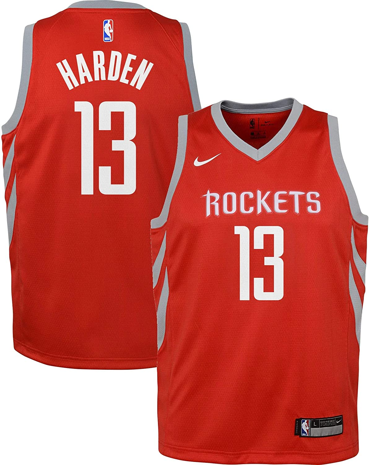Nike James Harden Houston Rockets NBA Youth 8-20 White Home Association Edition Swingman Jersey
