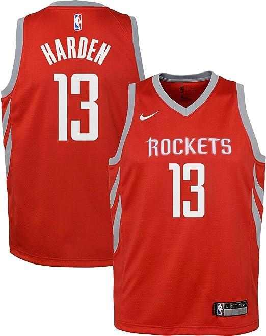 OuterStuff NBA Houston Rockets James Harden Youth Swingman Icon Jersey