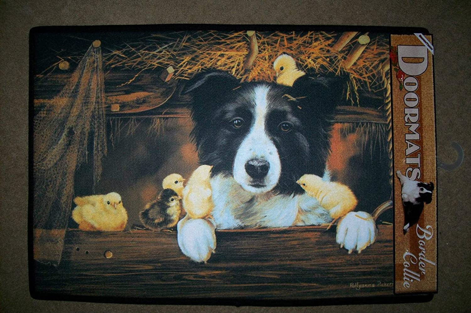DOGGY DOOR MATS Decorative Dog Breed Specific Welcome Mat Border Collie Rug hot sale 2017