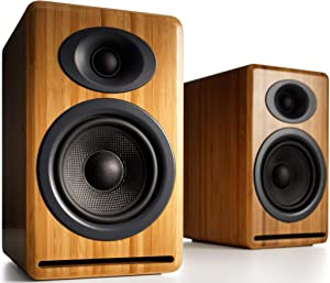 Audioengine P4 125W Passive Desktop Speakers (Pair) - Bamboo