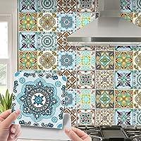 20 stuks Marokkaanse stijl tegelstickers, wandtegels, zelfklevend, schillen en plakken, wandtegels, kunstdecoratie voor…