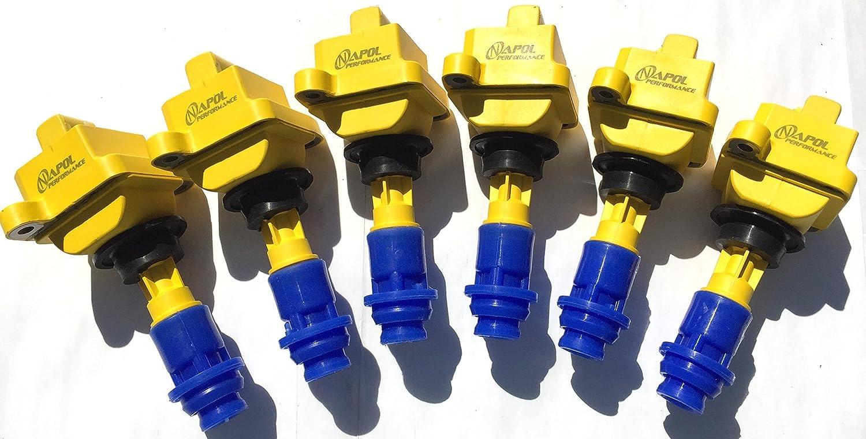 6 Mk4 Pack of 6 JDM Supra Ignition Coil Packs for 1JZ 2JZ GTE SOARER 2JZ-GTE TWIN TURBO 6 Aftermarket High Performance Coils Packs Set