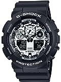 Casio G-Shock Orologio da Uomo Analogico/Digitale al Quarzo con Cinturino in Resina – GA-100BW-1AER