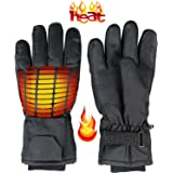 Heated Warm Gloves Men & Women - One Adult Size Thermal Electric Battery Operated Heating Warming Gloves Perfect as Insulated Hand Warmer Winter Activities Outdoor Sports Ski Hunting Snow Shoveling