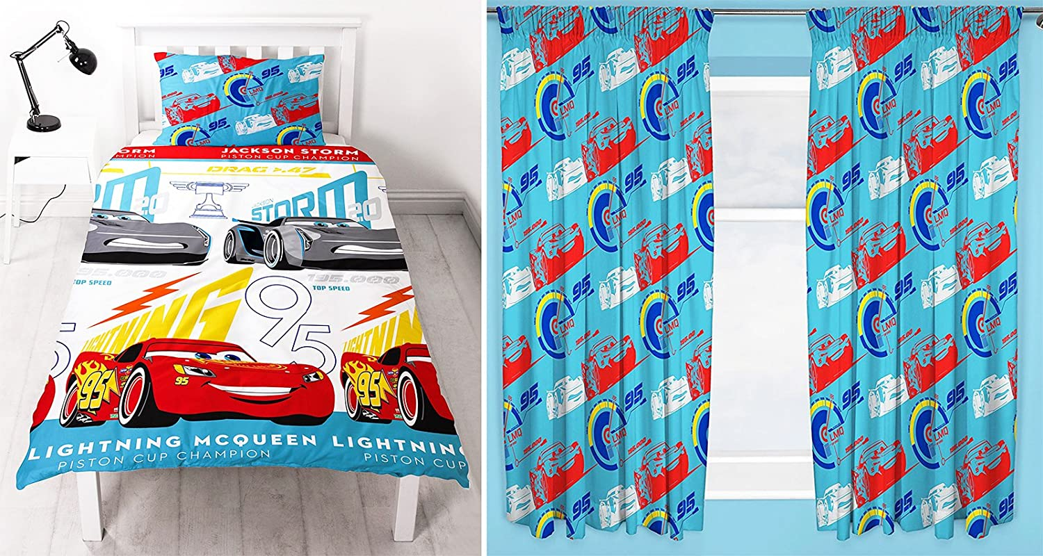 Cars 3 Lightning Single Duvet Set And Matching 66