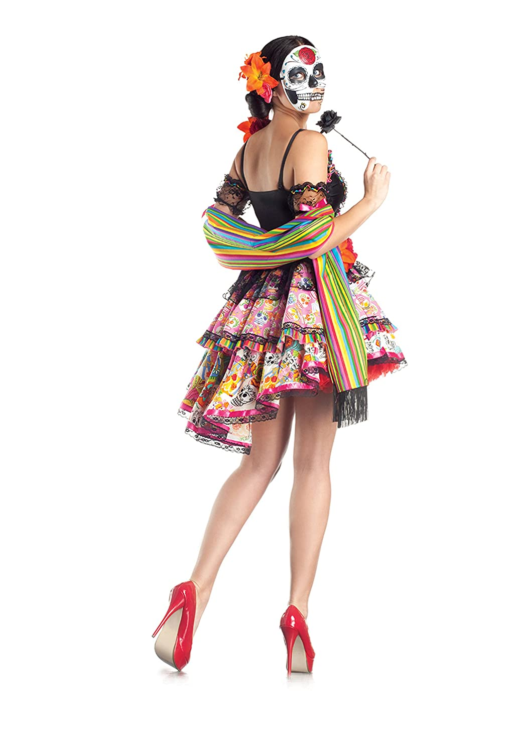 05ca31400c7 Party King Day Of The Dead Women's Costume Set with Mask
