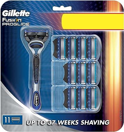 Gillette fusion proglide - Maquinilla de afeitar con 11 cuchillas: Amazon.es: Belleza