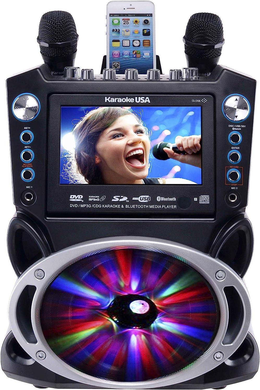 "Karaoke USA GF842 DVD/CDG/MP3G Karaoke Machine with 7"" TFT Color Screen"