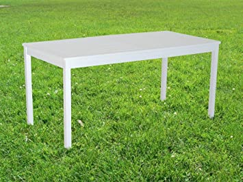Sedex Aalborg Table de Jardin en Bois d\'acacia Blanc 165 x 80 cm ...