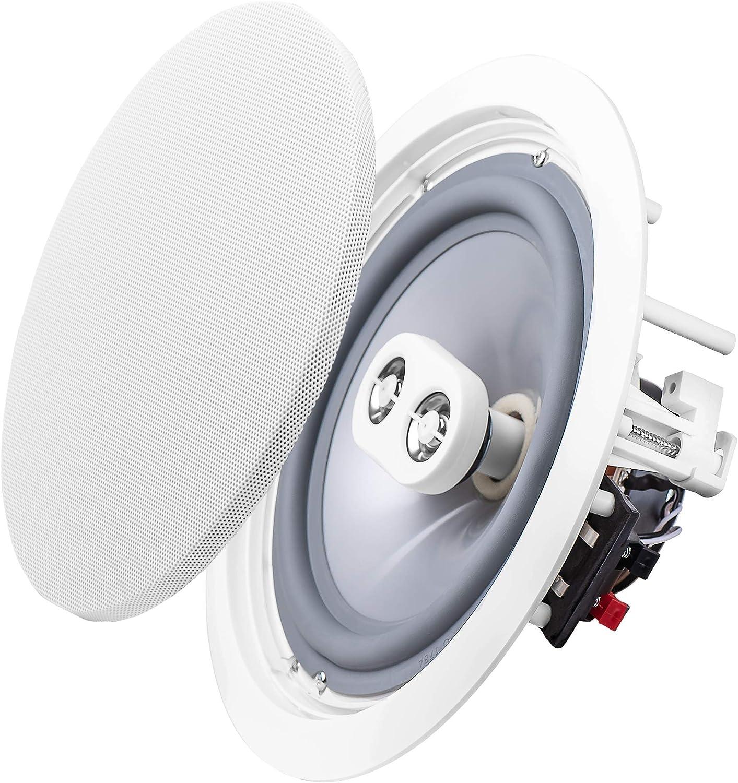 """OSD Weatherproof 8"""" in-Ceiling Single Stereo - Dual Tweeter Speaker – ICE800TTWRS"""