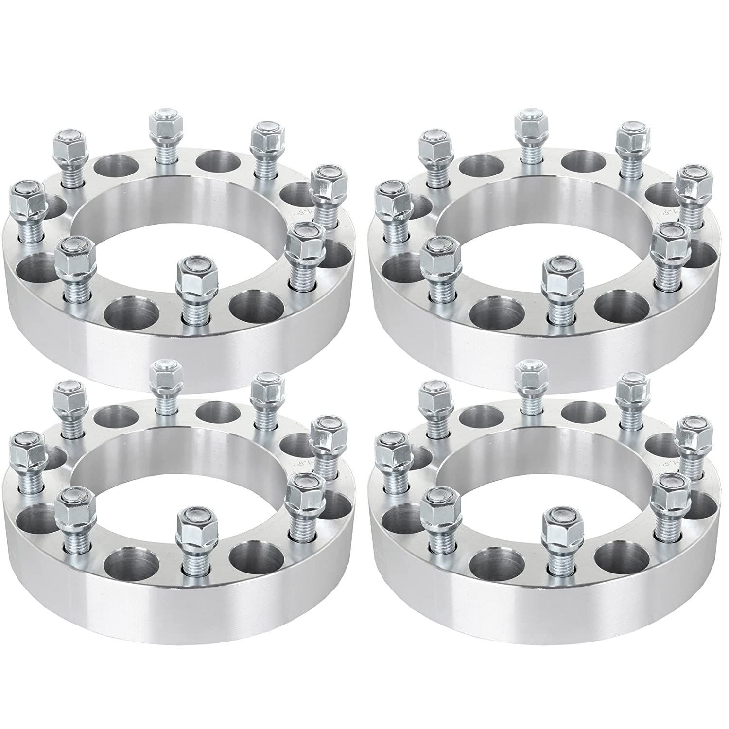 ECCPP 8x170 Wheel Spacers 1.5' 8x170mm to 8x170mm(125 mm) 8 Lug for Ford F-250 F-350 Excursion Powerstroke 1999 2000 2001 2002 with 14x2 Studs & Lug Nuts