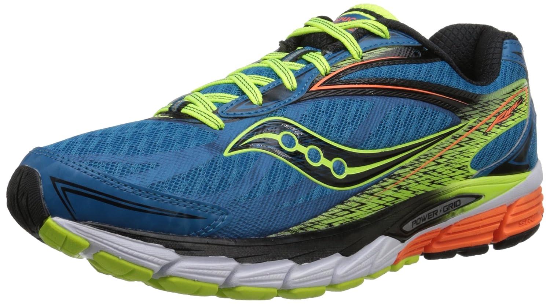 Saucony Ride 8 - Zapatillas de Running Unisex, Color Azul/Amarillo/Naranja 44.5 EU