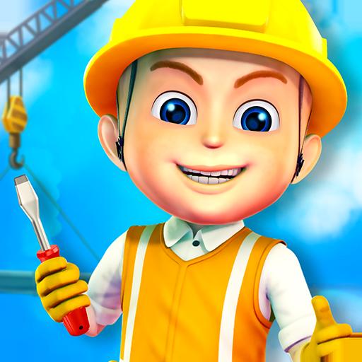 Construir cidades Jogo criança : jogo de construção para as crianças -  escavadoras, caminhões e guindaste para construir a cidade ! GRATUITO:  Amazon.com.br: ...