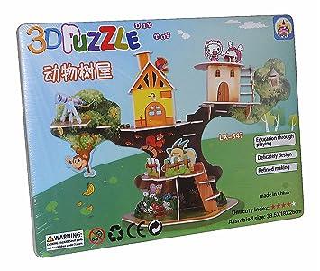 Diy Toy Lx 347 3d Puzzle Baumhaus Tier Paradise Puzzlespiel