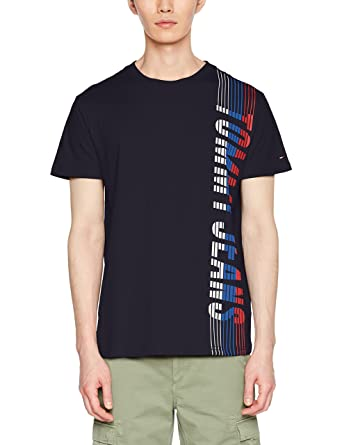 Free Shipping Wholesale Price Mens TJM Vertical Tee T-Shirt Tommy Jeans Popular Cheap Price yVIlRFN
