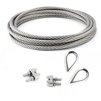 Edelstahlseil 2,5mm Stahlseil Edelstahl Seil 7x7 Drahtseil V4A Inox Seile