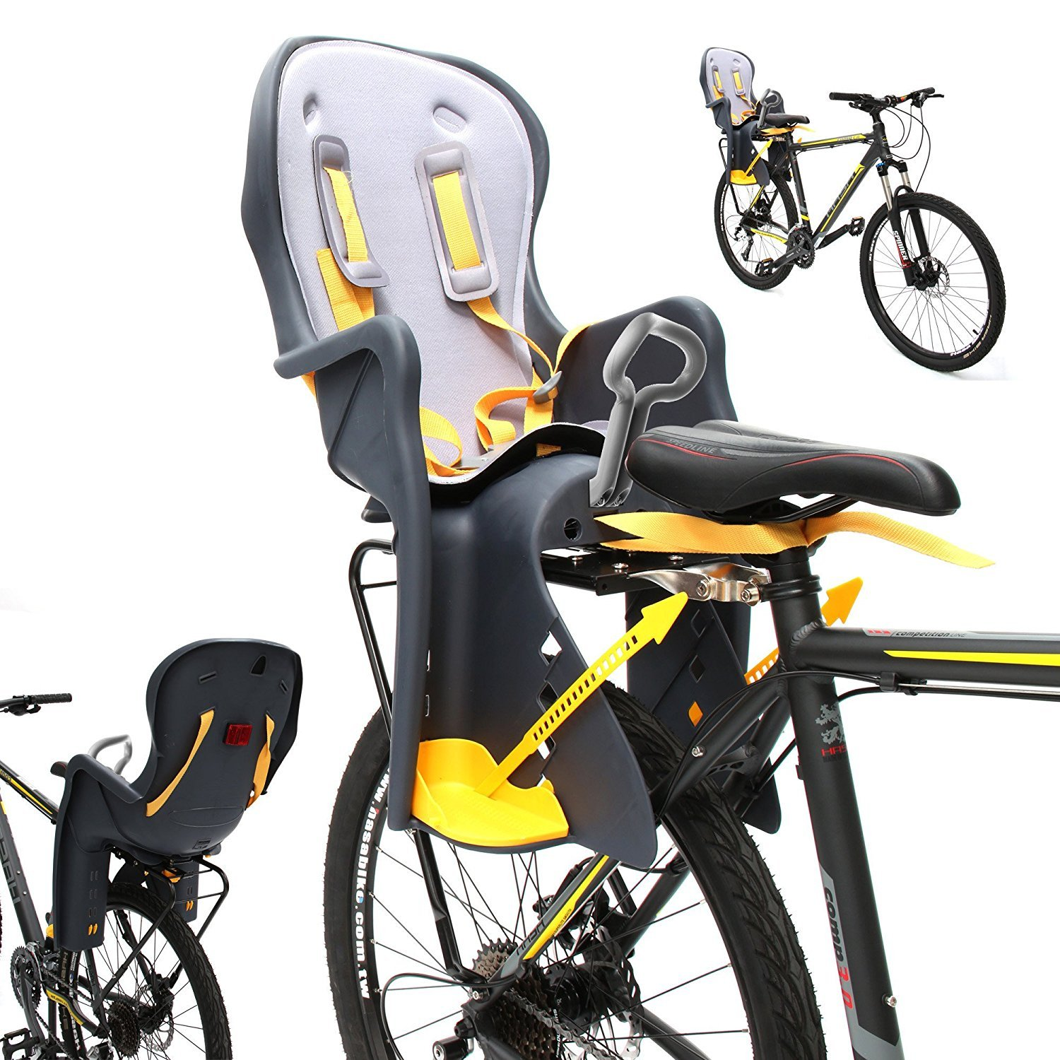 CyclingDeal Bicycle Kids child Rear Baby Seat bike Carrier USA Standard With Rack by CyclingDeal (Image #3)