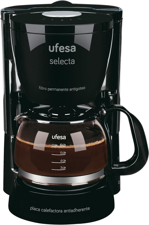 Ufesa Allegro 20 CG7212 Selecta-Cafetera de Goteo, 6 Tazas, 600W ...