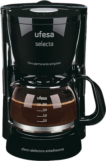 Ufesa Allegro 20 CG7212 Selecta-Cafetera de Goteo, 6 Tazas, 600W, Filtro Permanente, Jarra Especial Aroma, 600 W, plástico, Negro: Amazon.es: Hogar