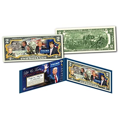 DONALD TRUMP 2016 Presidential LIFE & TIMES Collectible Art Two-Dollar Bill: Everything Else