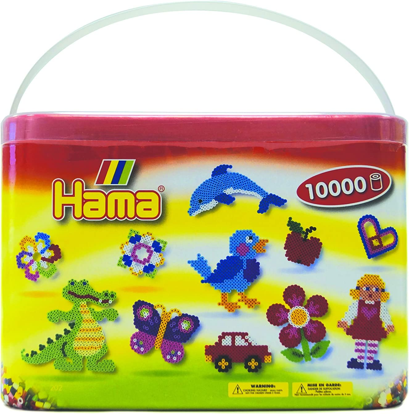Hama 202-67 - Cubo con 10.000 cuentas de colores [Importado de Alemania] , color/modelo surtido