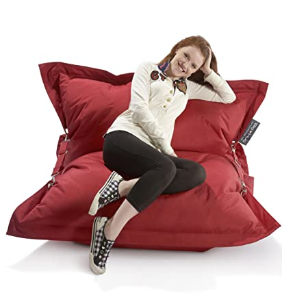 Excellent The Strapping Big Hug Large Bean Bag Red Amazon Co Uk Ocoug Best Dining Table And Chair Ideas Images Ocougorg