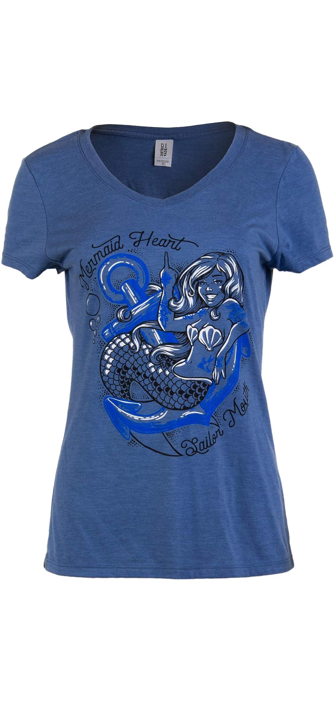 Mermaid Heart, Sailor Mouth  Cute Funny Sassy Sarcastic V-neck