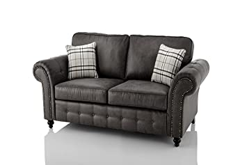 The Sofa Bed Factory New High Quality Oakridge Large Leather Sofa Suite Available In Black Or Tan Black 2 Seater