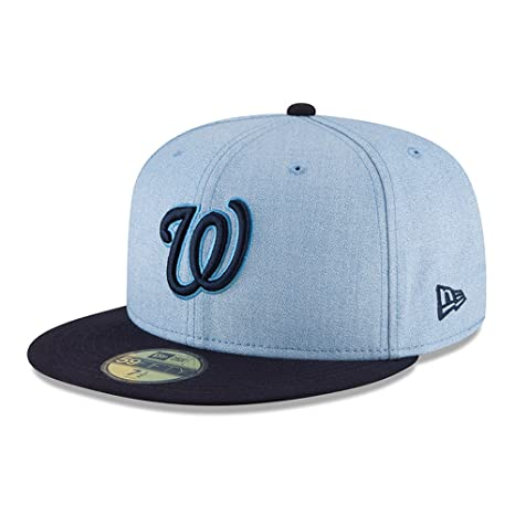 bb2ca551b1b New Era Washington Nationals 2018 Father s Day On Field 59FIFTY Fitted Hat  – Light Blue (