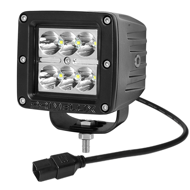 Spot Beam//1 Pack Primelux 3x3 6x5W CREE Off Road LED Fog Driving Jeep A-Pillar Light 3x3 30W -