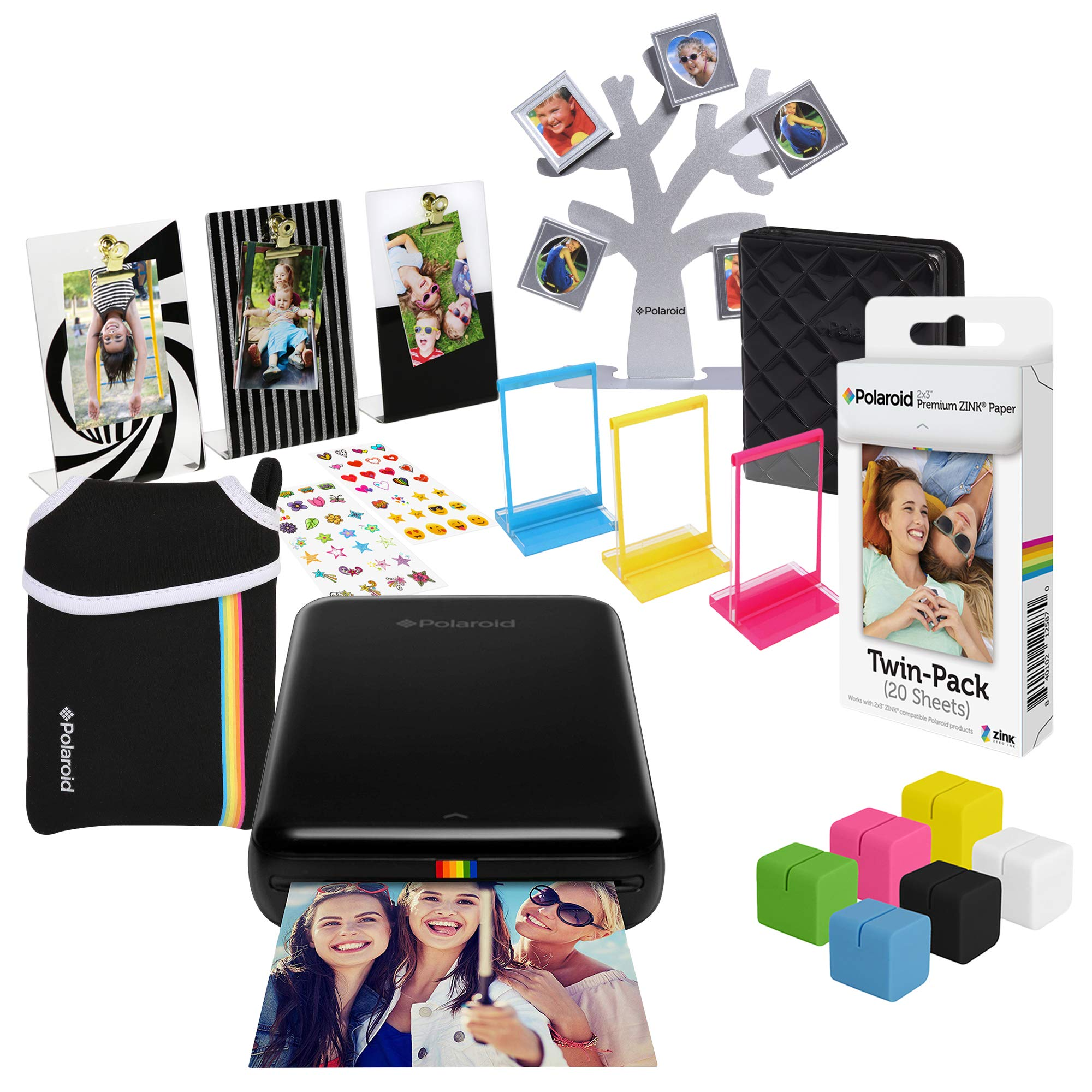 Polaroid Zip Wireless Photo Printer (Black) Ultimate Gift Bundle
