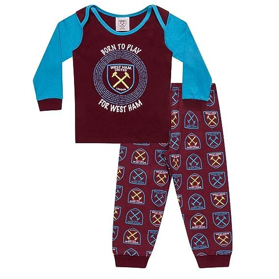 West Ham United FC - Pijama Oficial para niño: Amazon.es: Ropa y ...