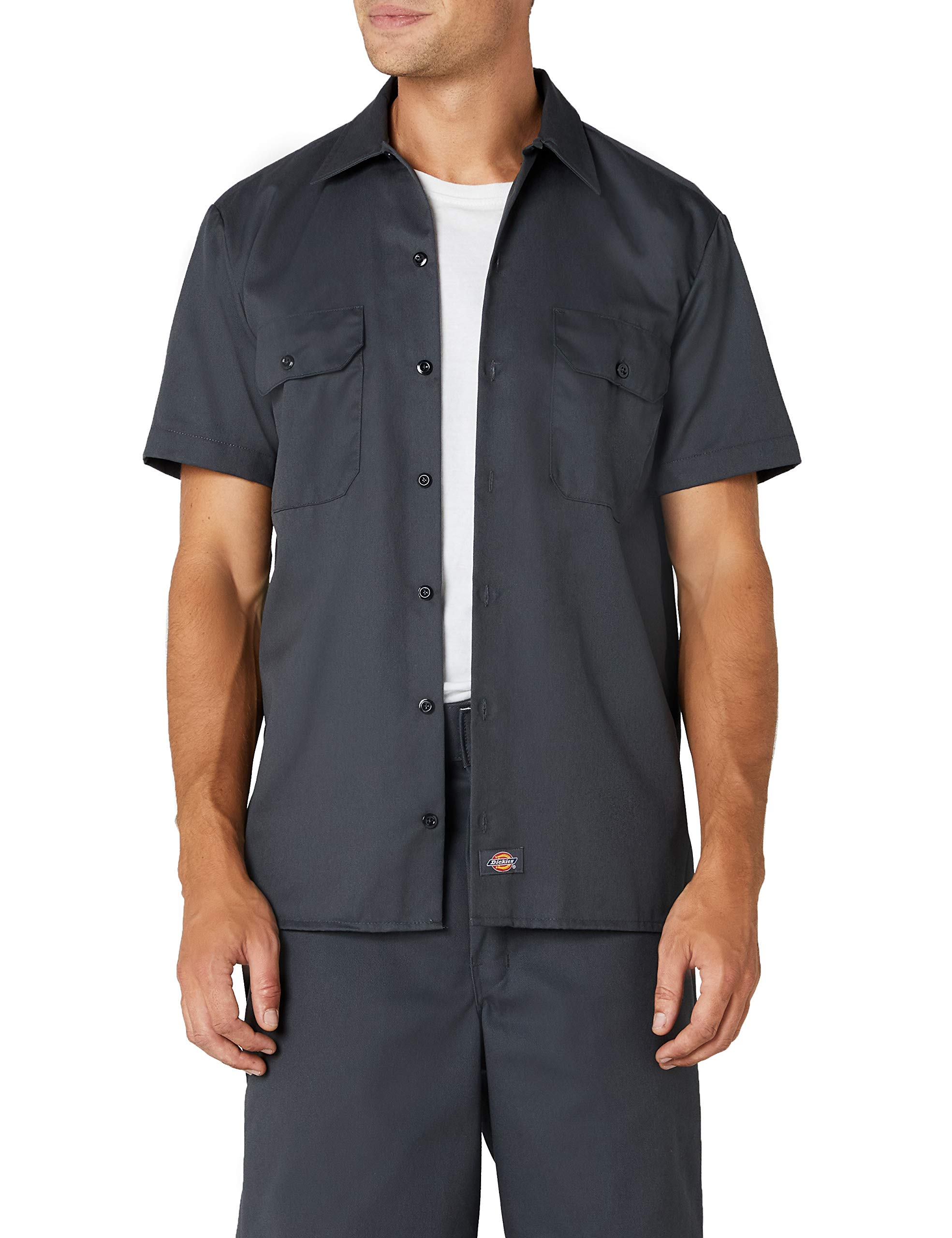 Dickies Men's Big and Tall Short Sleeve Work Shirt, Charcoal, Extra Large by Dickies
