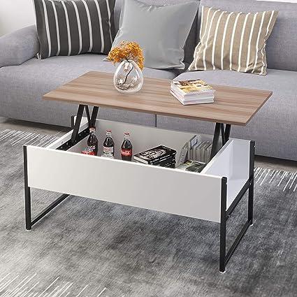 Table De Salon Avec Rangement.Jeffordoutlet Table Basse Relevable Salon Avec Rangement