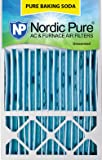 """Nordic Pure 16x25x4/16x25x5 (4-3/8 Actual Depth) Pure Baking Soda Honeywell FC100A1029 Replacement Pleated AC Furnace Air Filter, 1 Pack 16"""" x 25"""" x 5"""""""