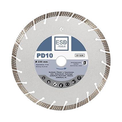 Diamante de corte de hormigón Turbo Diámetro 230 PD10 de diamante con orificio de 22,