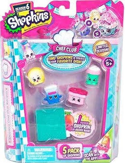 Amazon Com Shopkins Season 6 Chef Club 2 Pack Of 5 Toys Games