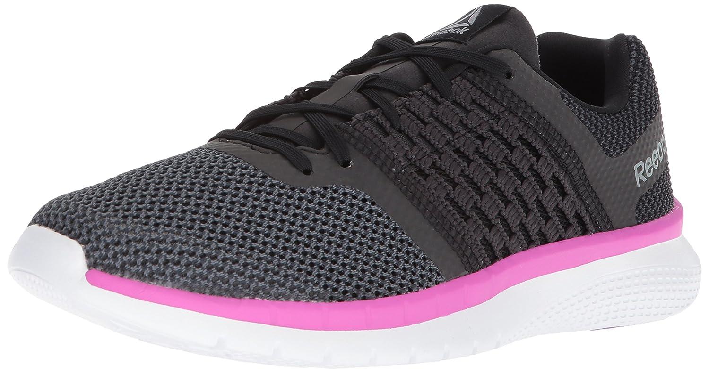 Reebok Women's Print Prime Runner Sneaker B077T8FBR9 11.5 B(M) US|Black/Gravel/Vicious Viol