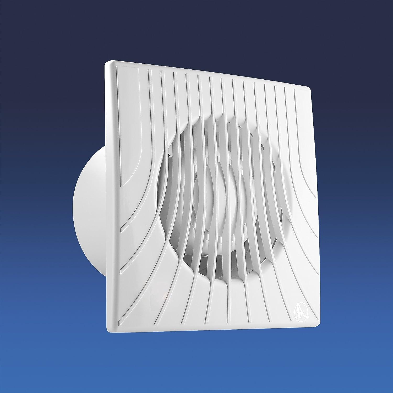 Badventilator Einbaul/üfter Badl/üfter L/üfter Wandl/üfter Ventilator WC Bad K/üche leise /Ø 100 mm Kleinraumventilator WA