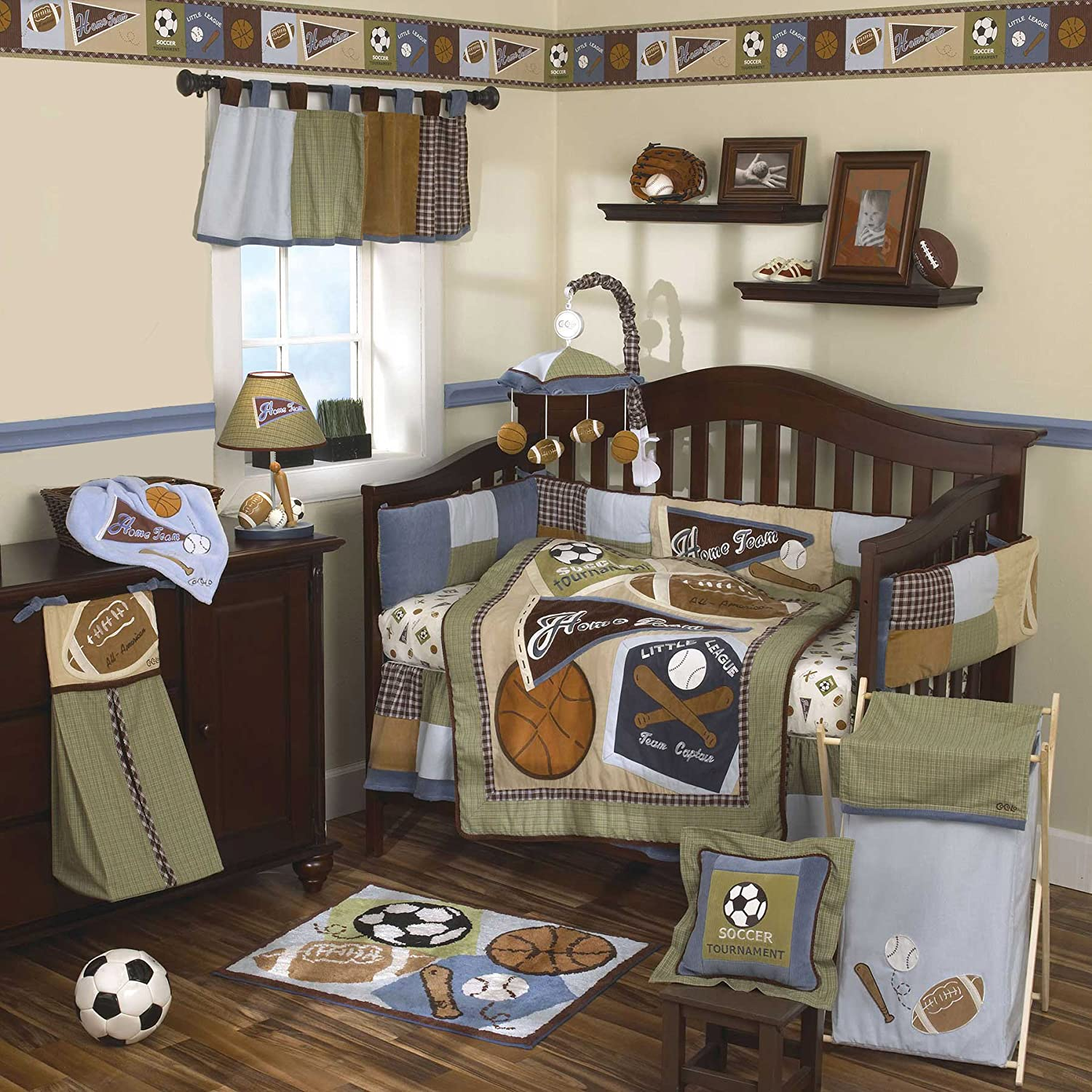 Amazon.com : CoCaLo 8 Piece Crib Set, Sports Fan (Discontinued by  Manufacturer) : Crib Bedding Sets : Baby