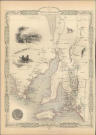 Australia Map 1850.Amazon Com South Australia Aborigines Dingo Adelaide Insets C 1850