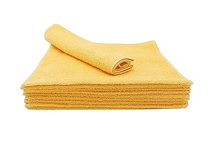 ZOLLNER 10 Toallas de tocador, 30x50 cm, Amarillo, en Otros Colores, algodón