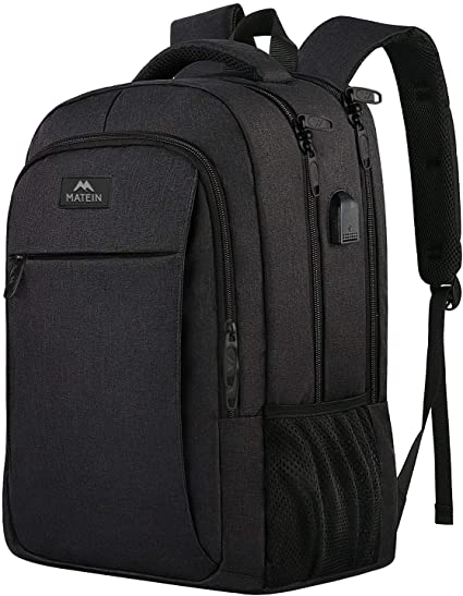 Slim Travel Computer Rucksack with USB Charging MATEIN Business Laptop Backpack
