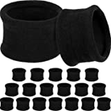 20 Pieces Large Cotton Stretch Hair Ties Bands Rope Ponytail Holders Headband for Thick Heavy or Curly Hair, 6.5 cm in Diameter (Black)