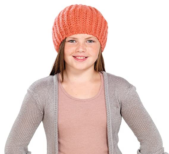 fe04c945cd6 Image Unavailable. Image not available for. Color  Octave Girls Knitted  Beanie Beret Hat With Lurex For Added Sparkle!